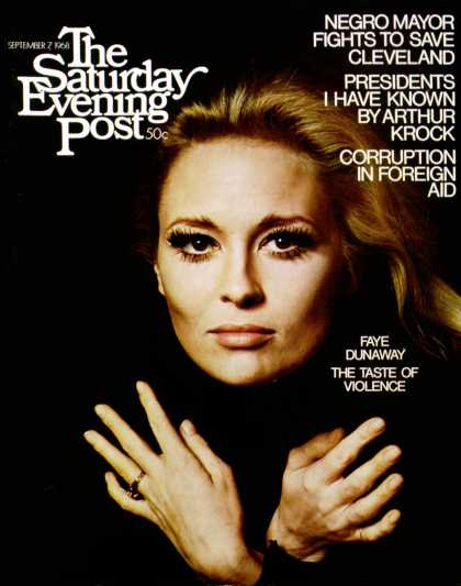 Saturday Evening Post - 1968-09-07: Faye Dunaway (Jerry Schatzberg)