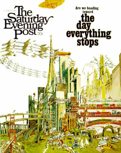 Saturday Evening Post - 1968-12-14: Day Everything Stops (Gene Holtan)