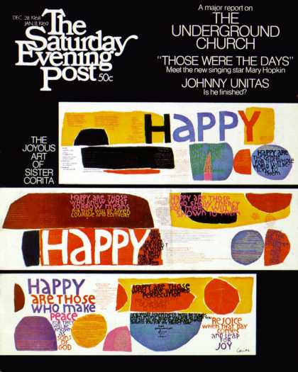 Saturday Evening Post - 1968-12-28: Happy Collage (United Church Press)