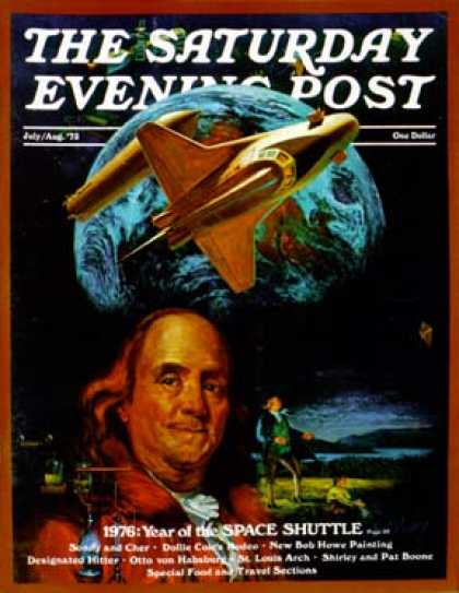 Saturday Evening Post - 1973-07-01: Franklin and the Space Shuttle (B. Winthrop)
