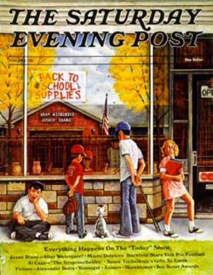 Saturday Evening Post - 1973-09-01: School Supplies (R. Howe)