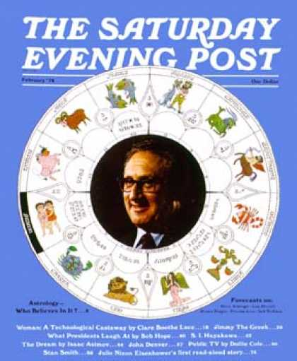 Saturday Evening Post - 1974-01-01: Henry Kissinger (Ollie Atkins)