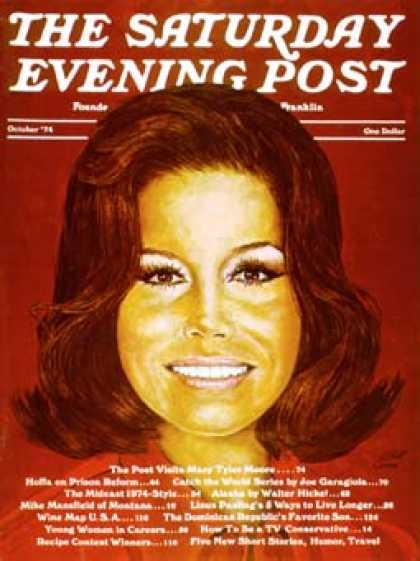 Saturday Evening Post - 1974-10-01: Mary Tyler Moore (W. Ware)