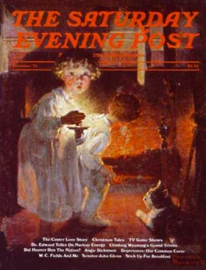 Saturday Evening Post - 1975-12-01: Awaiting Santa (Norman Rockwell)