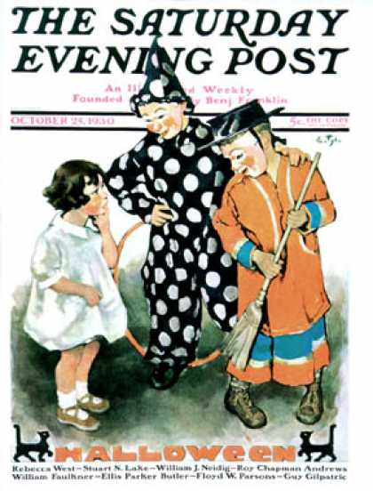 Saturday Evening Post - 1930-10-25: Trick-Or-Treat (Ellen Pyle)