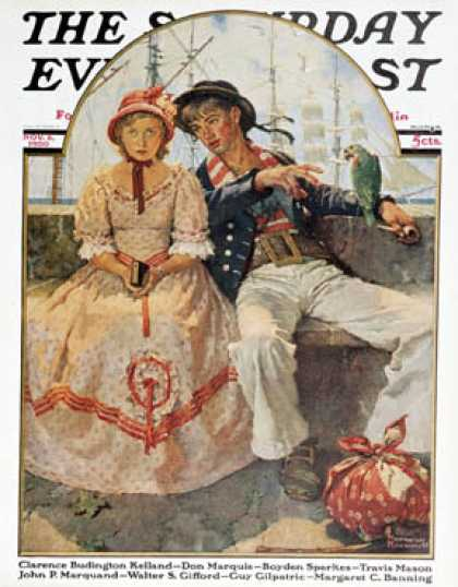 "Saturday Evening Post - 1930-11-08: ""Yarn Spinner"" (Norman Rockwell)"