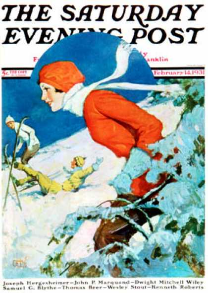 Saturday Evening Post - 1931-02-14: Woman Skier (James C. McKell)