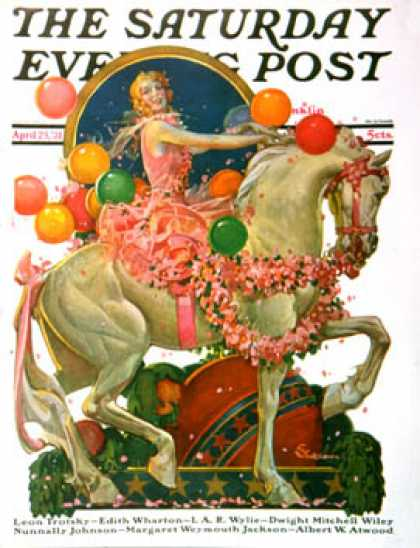 Saturday Evening Post - 1931-04-25: Circus Bareback Rider (E. M. Jackson)