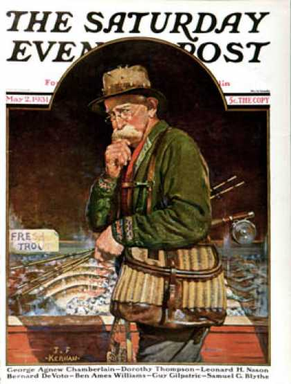 Saturday Evening Post - 1931-05-02: Fishing at the Market (J.F. Kernan)