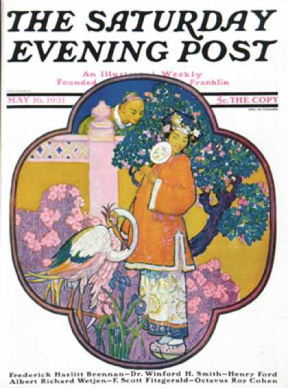 Saturday Evening Post - 1931-05-16: Chinese Garden (Henry Soulen)