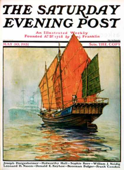 Saturday Evening Post - 1931-05-30: Chinese Junk (Anton Otto Fischer)