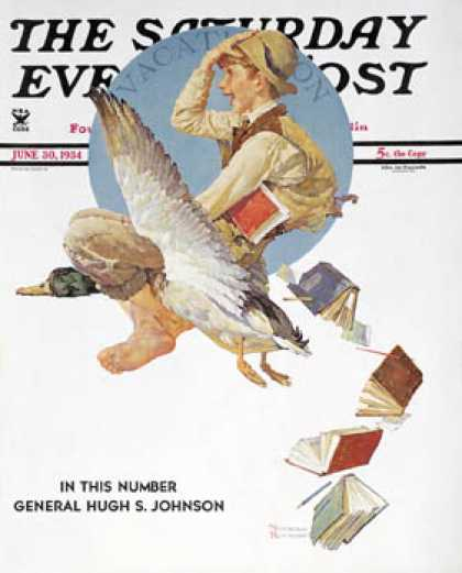 "Saturday Evening Post - 1934-06-30: ""Summer Vacation, 1934"" (Norman Rockwell)"