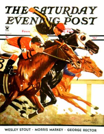 Saturday Evening Post - 1934-08-04: Thoroughbred Race (Maurice Bower)