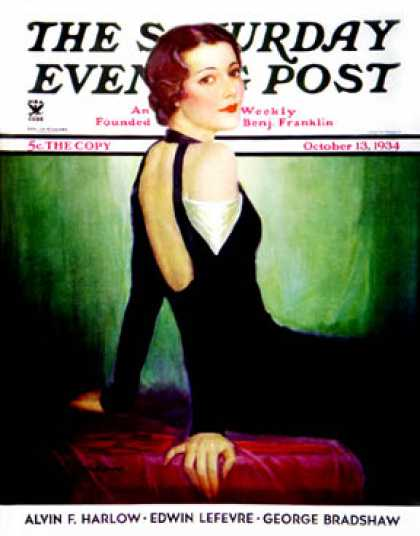 Saturday Evening Post - 1934-10-13: Svelte in Black (Charles W. Dennis)