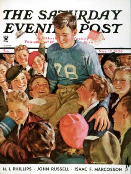 Saturday Evening Post - 1934-11-17: Football Hero (Eugene Iverd)