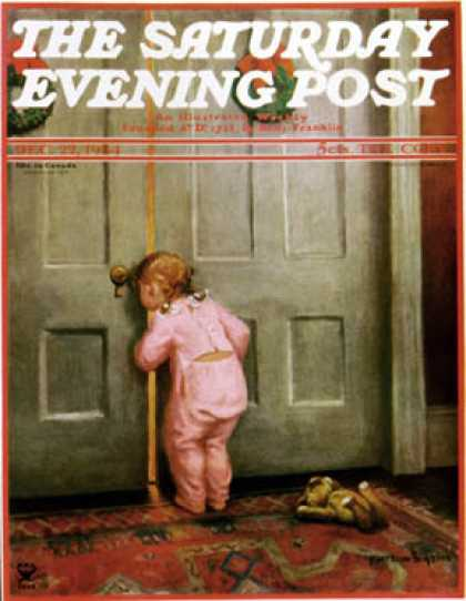 Saturday Evening Post - 1934-12-22: Christmas Peek (Mary Ellen Sigsbee)