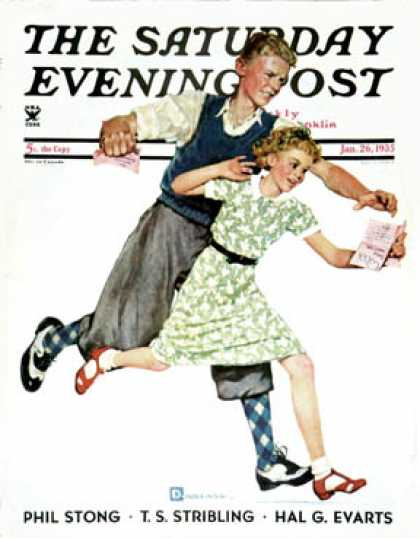 Saturday Evening Post - 1935-01-26: Love Letter (Douglas Crockwell)
