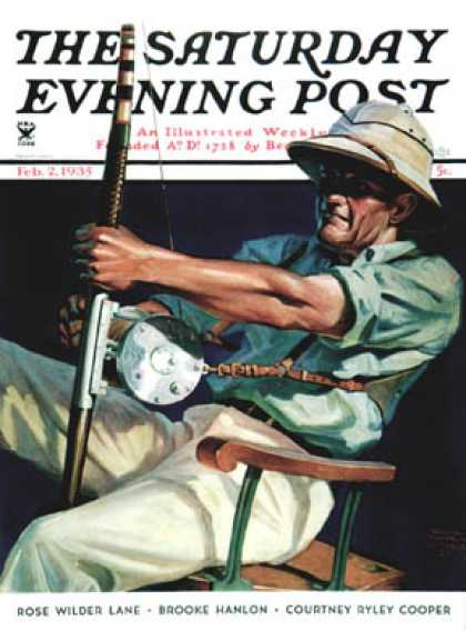Saturday Evening Post - 1935-02-02: Deep Sea Fisherman (Edgar Franklin Wittmack)