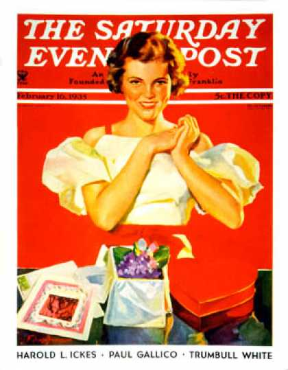 Saturday Evening Post - 1935-02-16: Valentine's gifts (F. Sands Bruner)