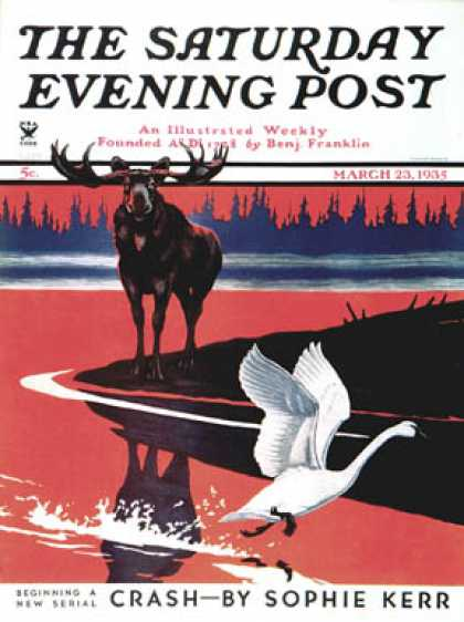 Saturday Evening Post - 1935-03-23: Moose and White Goose (Jacob Bates Abbott)