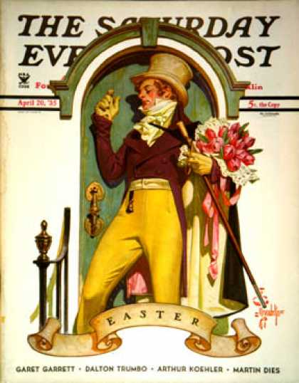 Saturday Evening Post - 1935-04-20: Easter Bouquet (J.C. Leyendecker)