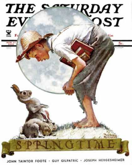 "Saturday Evening Post - 1935-04-27: ""Springtime, 1935"" (Norman Rockwell)"