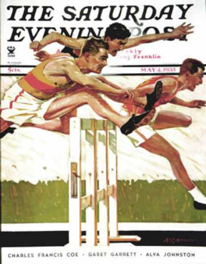 Saturday Evening Post - 1935-05-04: Hurdlers (Maurice Bower)