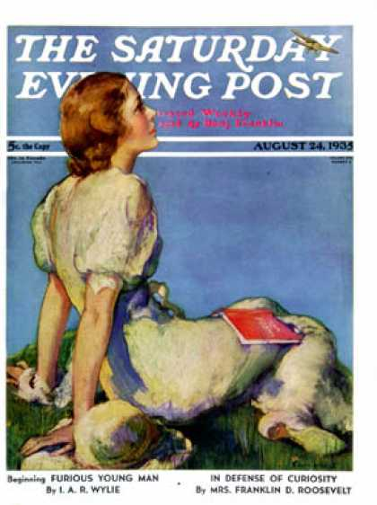 Saturday Evening Post - 1935-08-24: Inspired by Poetry (Guy Hoff)