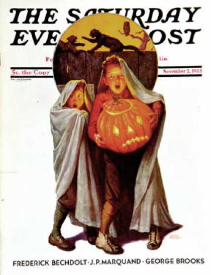 Saturday Evening Post - 1935-11-02: Halloween Scare (Frederic Stanley)
