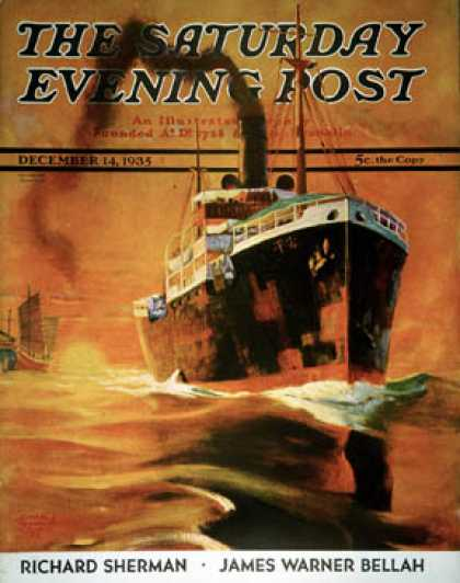 Saturday Evening Post - 1935-12-14: Freighter (Edgar Franklin Wittmack)