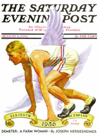 Saturday Evening Post - 1936-08-08: Eleventh Olympiad (J.F. Kernan)