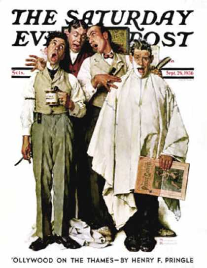 "Saturday Evening Post - 1936-09-26: ""Barbershop Quartet"" (Norman Rockwell)"
