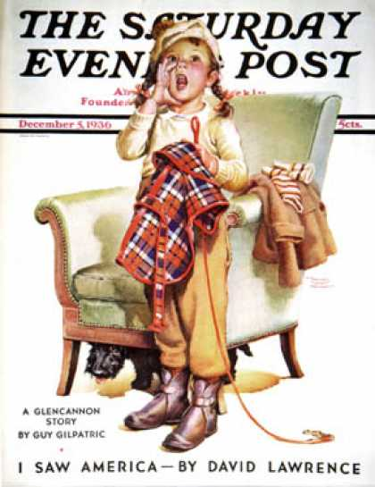 Saturday Evening Post - 1936-12-05: Here Boy! (Frances Tipton Hunter)