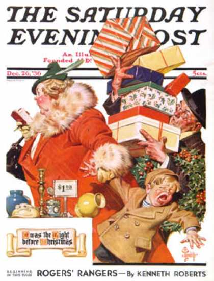 "Saturday Evening Post - 1936-12-26: ""Night before Christmas"" (J.C. Leyendecker)"
