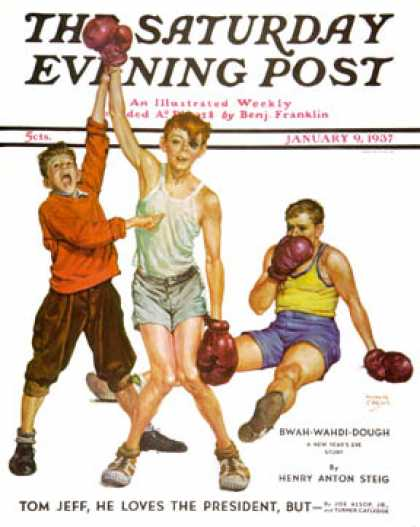 Saturday Evening Post - 1937-01-09: Boxing Champ (Monte Crews)