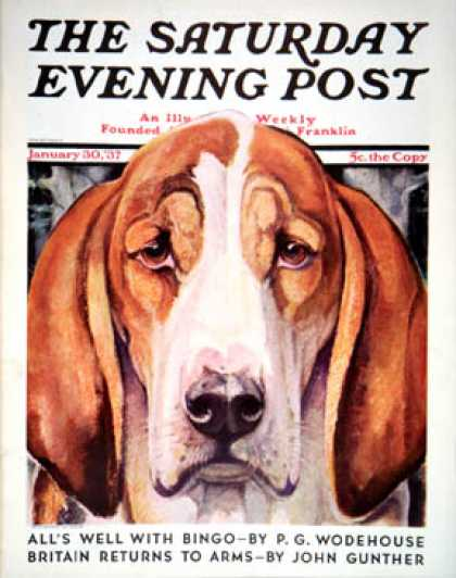 Saturday Evening Post - 1937-01-30: You Ain't Nothing But a Hounddog (Paul Bransom)