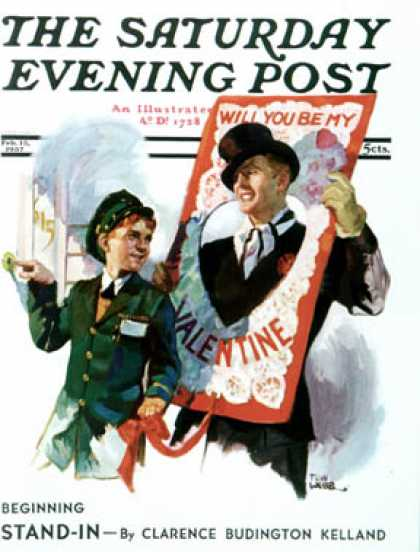 Saturday Evening Post - 1937-02-13: Giant Valentine (Tom Webb)