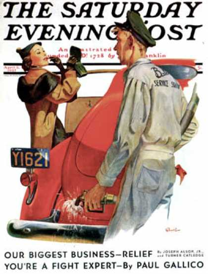 Saturday Evening Post - 1937-04-03: Fill'er Up (McCauley Conner)