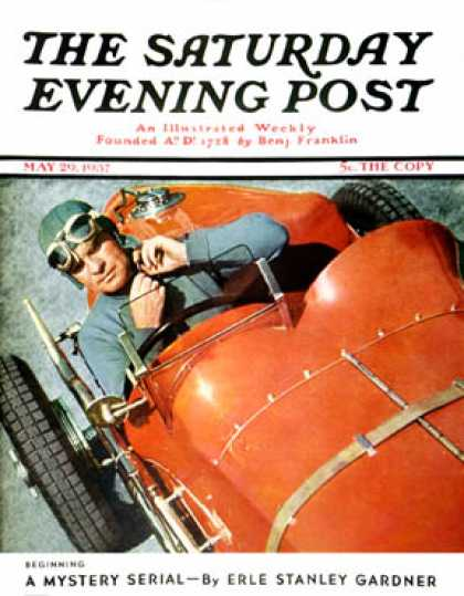 Saturday Evening Post - 1937-05-29: Auto Racing (Ivan Dmitri)