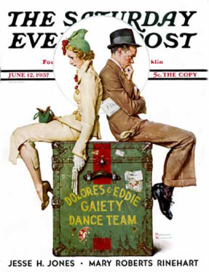 "Saturday Evening Post - 1937-06-12: ""Gaiety Dance Team"" (Norman Rockwell)"