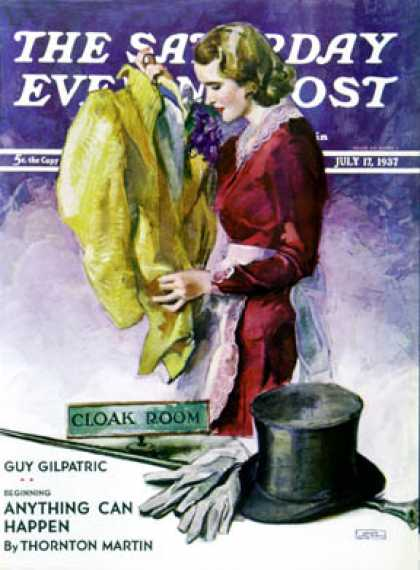 Saturday Evening Post - 1937-07-17: Hatcheck Girl (John LaGatta)