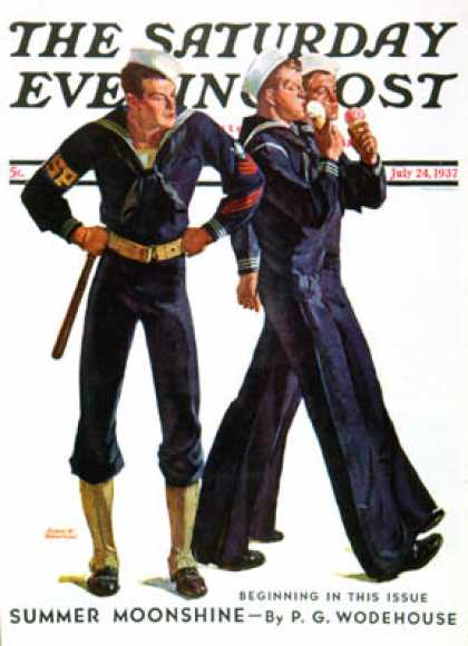 Saturday Evening Post - 1937-07-24: Sailors and Cones (Albert W. Hampson)