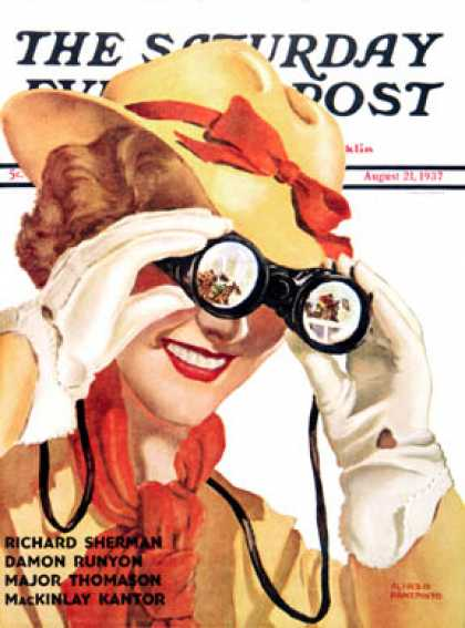 Saturday Evening Post - 1937-08-21: Racing Spectator (Alfred Panepinto)
