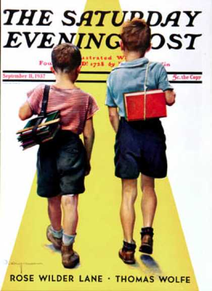 Saturday Evening Post - 1937-09-11: Back to School (Robert C. Kauffmann)
