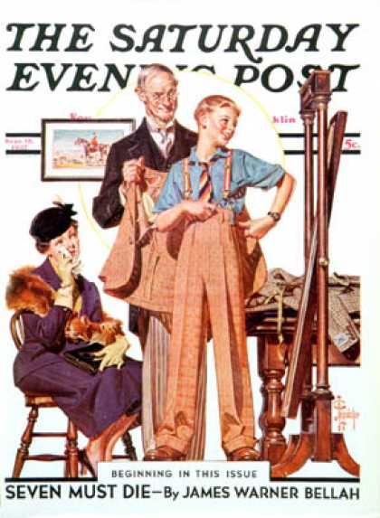 Saturday Evening Post - 1937-09-18: First Long Suit (J.C. Leyendecker)