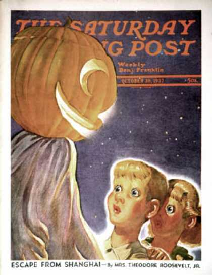 Saturday Evening Post - 1937-10-30: Trick or Treaters (Robert B. Velie)