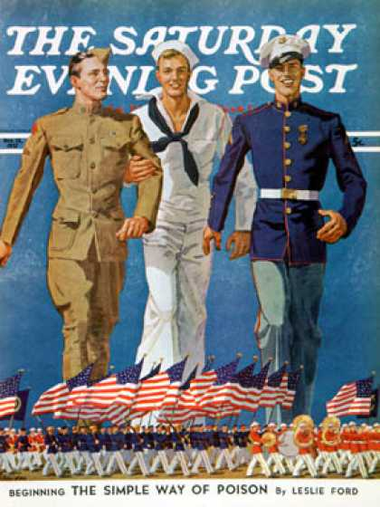Saturday Evening Post - 1937-11-13: Army, Navy & Marines (John E. Sheridan)
