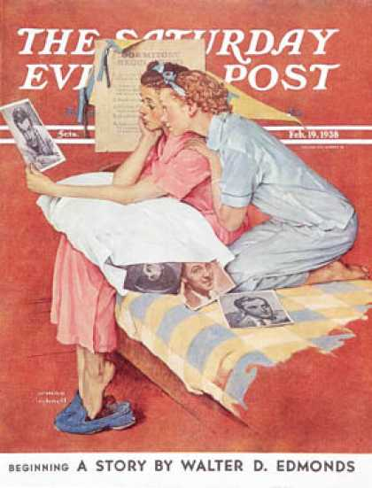 "Saturday Evening Post - 1938-02-19: ""Movie Star"" (Norman Rockwell)"