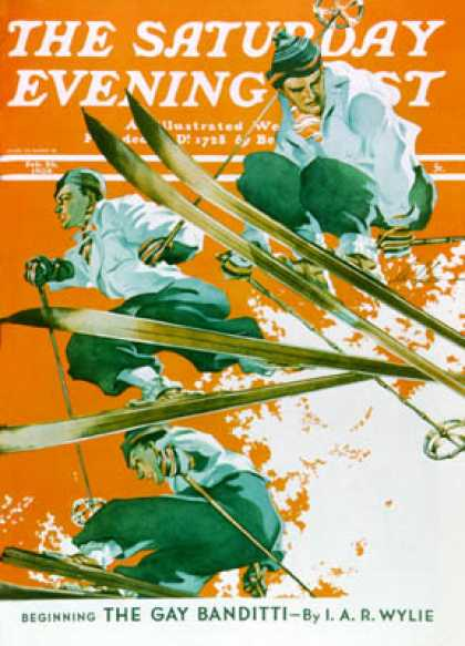 Saturday Evening Post - 1938-02-26: Ski Jumpers (Ski Weld)