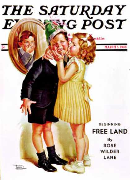 Saturday Evening Post - 1938-03-05: Birthday Kiss (Frances Tipton Hunter)